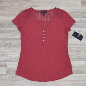 ✨ CHAPS Short Sleeve Shirt Henley Shirt ✨